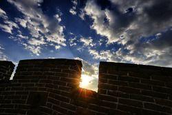Une vue de la grande muraille de Chine