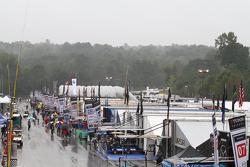 Pluie dans le paddock