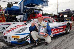 Christian Fittipaldi celebrates overall pole
