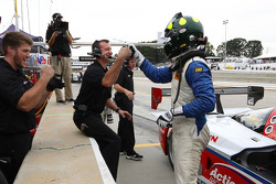 Christian Fittipaldi fête sa pole position