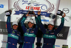 Podium GTLM : Wolf Henzler, Bryan Sellers, Marco Holzer