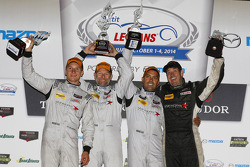 Podium : Mirco Schultis, Renger van der Zande, Alex Popow avec Peter Baron
