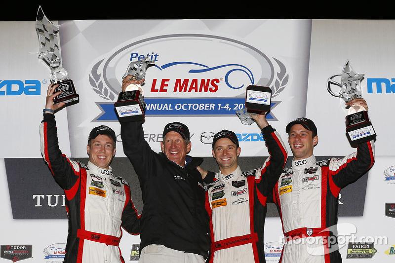 GTD podio: vincitori Christopher Haase, Bryce Miller, Matt Campana