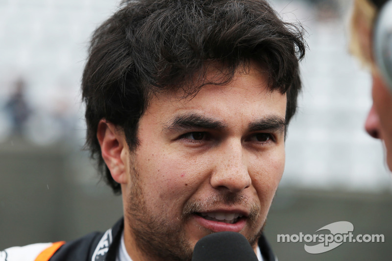 Sergio Perez, Sahara Force India F1, in griglia