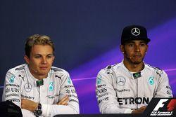 FIA-Pressekonferenz: Nico Rosberg, Mercedes AMG F1; Lewis Hamilton, Mercedes AMG F1