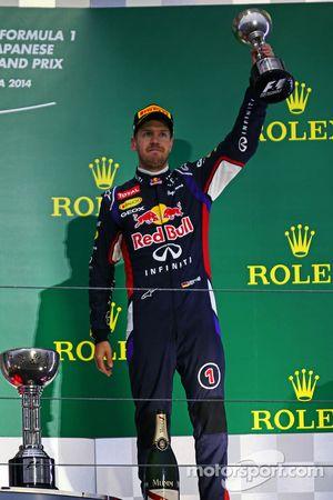 Sebastian Vettel sur le podium