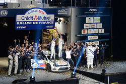 Winners Jari-Matti Latvala and Miikka Anttila