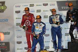 Classe P podio: terzo posto Scott Pruett, Memo Rojas, Scott Dixon
