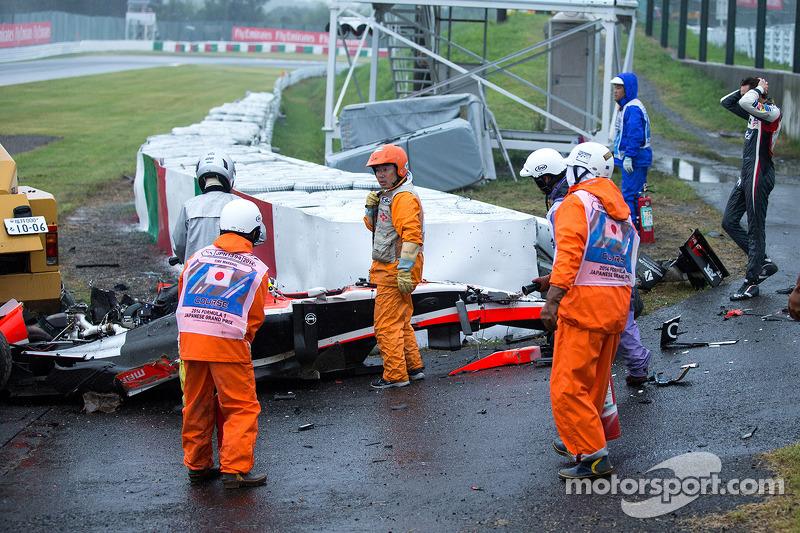 Sutil muss mit ansehen, wie Bianchi in derselben Kurve crasht wie er selbst