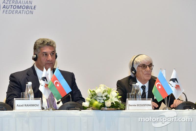 Azad Rahimov et Bernie Ecclestone