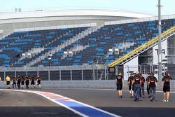 Lotus F1 Team track walk