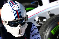 Williams effettua un pit stops