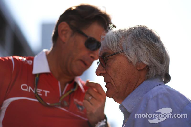 Graeme Lowdon avec Bernie Ecclestone