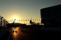 Track walk. Track atmosphere