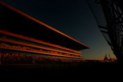 Main grandstand. Track atmosphere