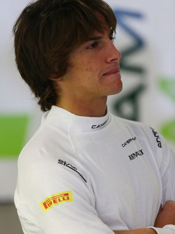 Roberto Merhi, pilota addetto ai test del Caterham F1 Team