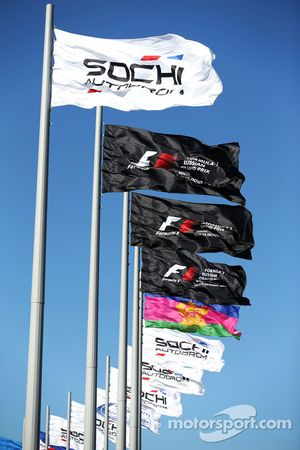Sochi Autodrom flags