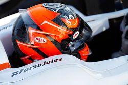 #ForzaJules sur la voiture de Daniel de Jong