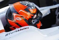#ForzaJules on car of Daniel de Jong