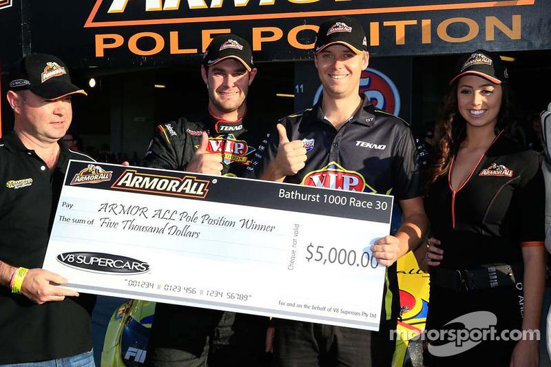 Ganador de la pole Shane van Gisbergen y Jonathon Webb, Equipo Tekno VIP Holden