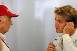 Niki Lauda e Nico Rosberg, Mercedes AMG F1 Team 11