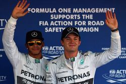 Pole for Lewis Hamilton, Mercedes AMG F1 and 2nd for Nico Rosberg, Mercedes AMG F1 W05