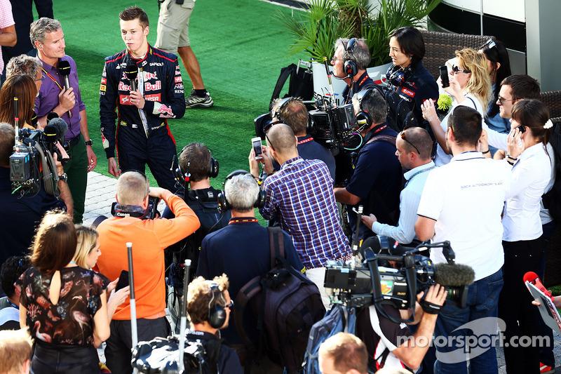 Daniil Kvyat, Scuderia Toro Rosso with David Coulthard, Red Bull Racing and Scuderia Toro Advisor /