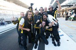 L'équipe DAMS fête la victoire