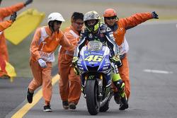 En segundo lugar, Valentino Rossi, de Yamaha Factory Racing