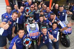 Ganador de la carrera, Jorge Lorenzo, de Yamaha Factory Racing