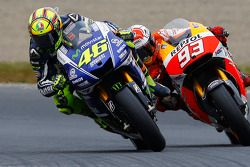 Valentino Rossi, Yamaha Factory Racing and Marc Marquez, Repsol Honda Team