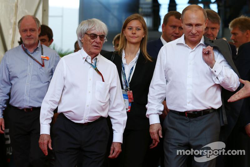 Bernie Ecclestone ve Vladimir Putin, Rusya Başkanı