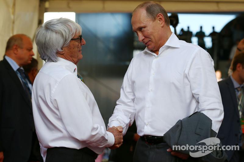 Bernie Ecclestone avec Vladimir Poutine