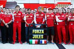 Massimo Rivola, Ferrari Director Deportivo; Fernando Alonso, de Ferrari; Marco Mattiacci, director d