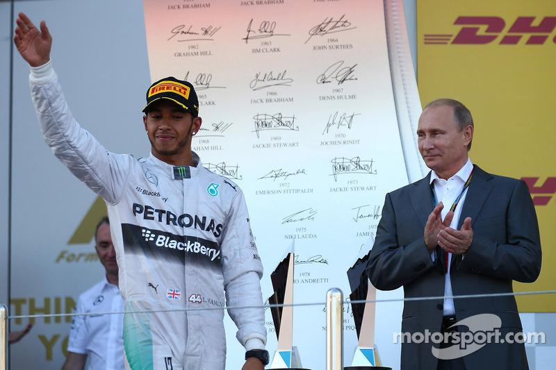 Lewis Hamilton, Mercedes AMG F1 ve Vladimir Putin, Rusya Federation Başkanı