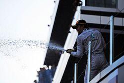 Nico Rosberg, Mercedes AMG F1 celebra la sua seconda posizione sul podio