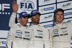 Third place Mark Webber, Brendon Hartley, Timo Bernhard