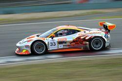 #33 Clearwater Racing Ferrari 458 GT3: Keita Sawa, Matt Griffin