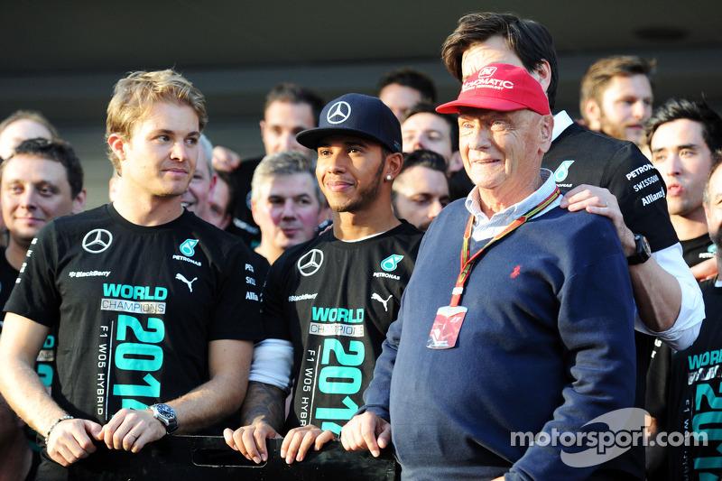 Nico Rosberg. Lewis Hamilton y Niki Lauda en Rusia 2014