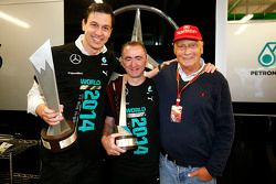 (L to R): Toto Wolff, Mercedes AMG F1 Shareholder and Executive Director; Paddy Lowe, Mercedes AMG F