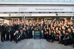 Mercedes AMG F1 celebrate winning the 2014 Constructors Championship