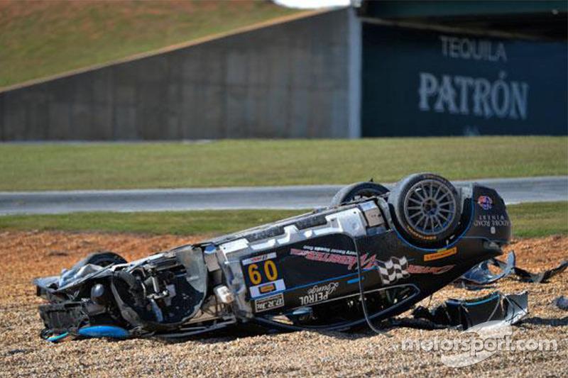 #09 TRG AMR Aston Martin: James Davison crashed