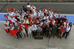 The WTCC family shows support for Marussia F1 Team driver Jules Bianchi