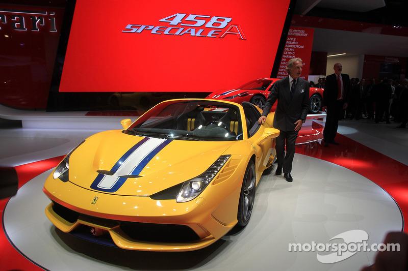 Luca Cordero di Montezemolo ITA Ferrari CEO and the new Ferrari