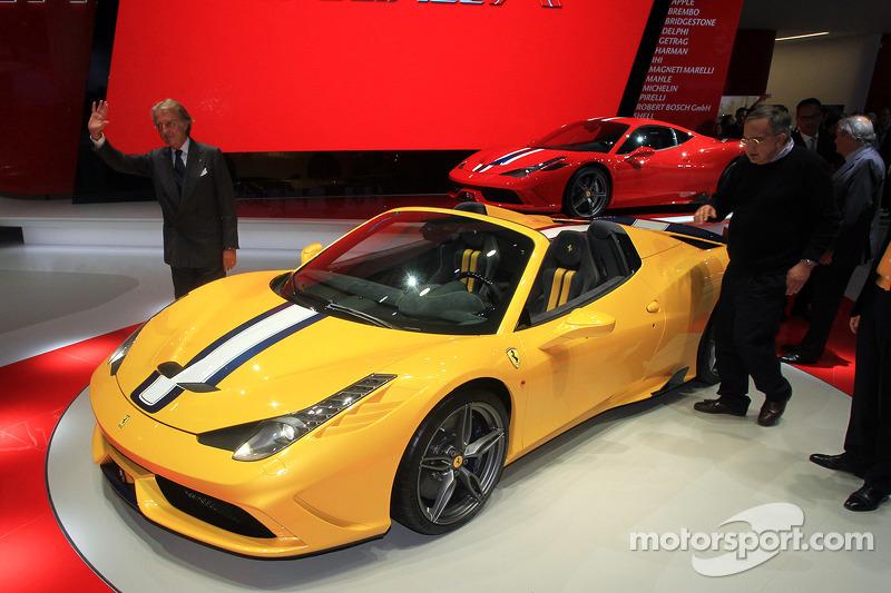 Luca Cordero di Montezemolo (ITA) Ferrari Ceo, y Sergio Marchionne (ITA) Fiat Chrysler Group Ceo con