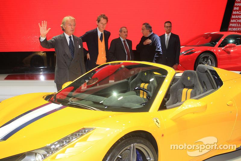 Luca Cordero di Montezemolo (ITA) Ferrari Ceo, director Amedeo Felisa (ITA) Ferrari, presidente John