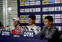 Persconferentie, Mike Rockenfeller, Audi Sport Team Phoenix Audi RS 5 DTM, Marco Wittmann, BMW Team