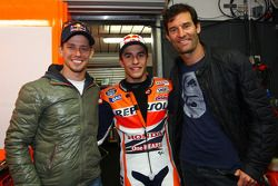 Casey Stoner, Marc Marquez e Mark Webber