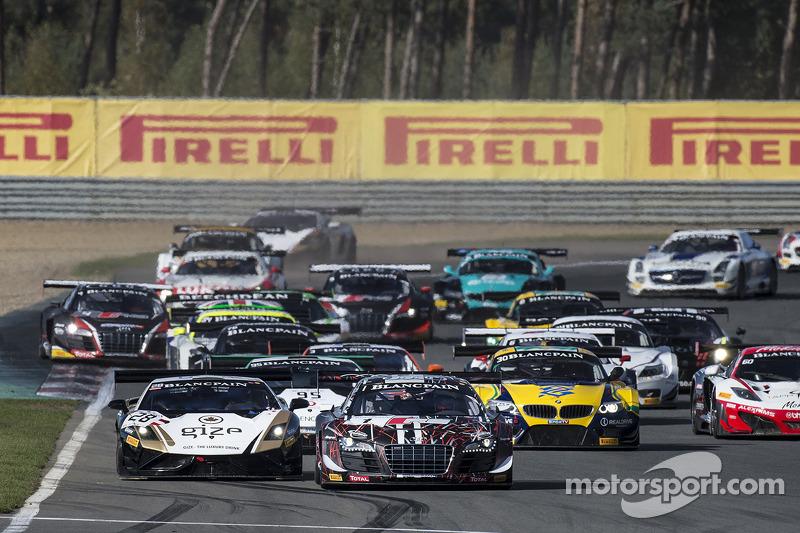 Start: #1 Belgian Audi Club Team WRT Audi R8 LMS Ultra: Cesar Ramos, Laurens Vanthoor leads