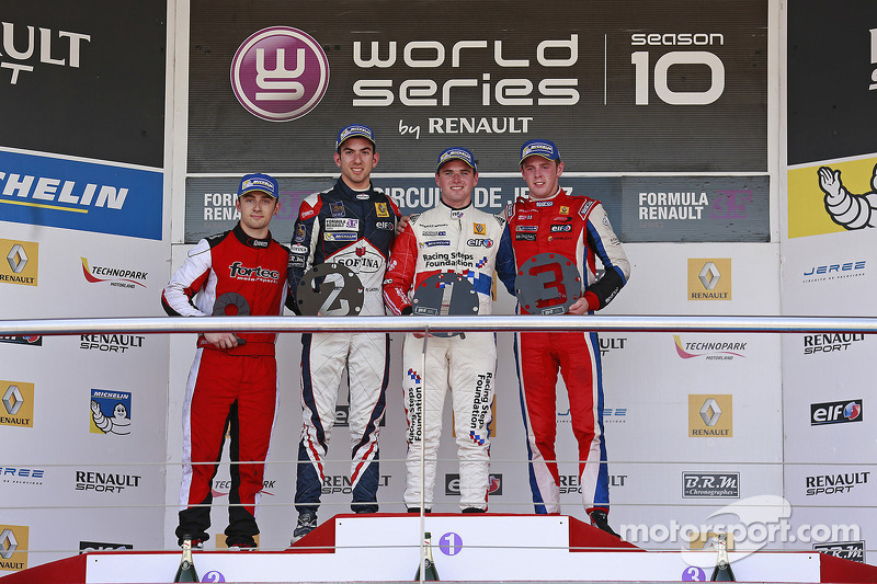Podio: Nicholas Latifi, Oliver Rowland, William Buller